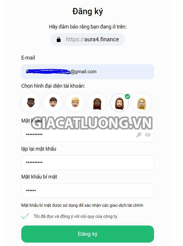 dang ky tai khoan aura4 finance